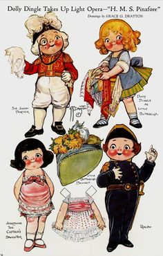 Bonecas de Papel: Dolly Dingle Paper Dolls * 1500 paper dolls at International Paper Doll Society by artist Arielle Gabriel ArtrA QuanYin5 Linked In QuanYin5 Twitter *