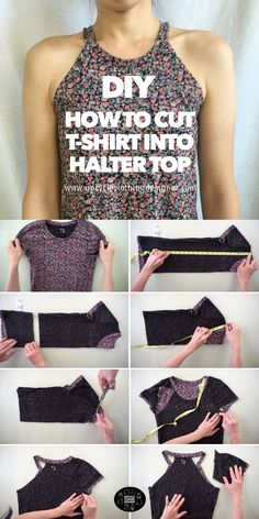 Diy Cut Shirts, Old T Shirts, T Shirt Diy, Diy T Shirt Cutting, Cutting Shirts, Band Shirts, Diy Clothes Refashion, Shirt Refashion, Cut Up T Shirt