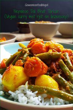 Nepale groentecurry met linzensoep en rijst   Gewooneenfoodblog.nl