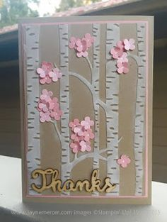 Stampin' Up! 'Woodland' Embossing Folder for Spring! - Jayne Mercer.