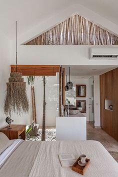 Mezzanine Design, Mezzanine Bedroom, Bali Bedroom, Bedroom Decor, Interior And Exterior, Interior Design, Interior Decorating, Outdoor Bathrooms, Tropical Houses