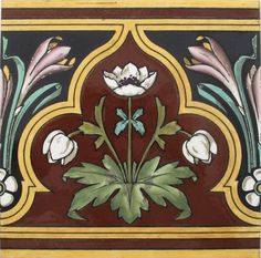 Tile Design by Dr Christoper Dresser?To the best of my knowledge not one of Dressers designs was ever used for tile decoration. Textile Patterns, Textile Design, Textiles, Minton Tiles, Art Nouveau, Christopher Dresser, Importance Of Art, Decorative Tile, Decorative Borders