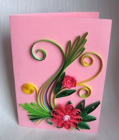 Quilling Easter Cards - Felicitari de Paste Here , are the first greeting cards.I hope you like it.I am looking forward to share. Paper Quilling Designs, Quilling Cards, Quilling Ideas, Handmade Crafts, Diy And Crafts, Collective Nouns, Paper Folding, Easter Crafts, Projects To Try