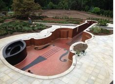 "Violin-shaped pool! How cool?!? Not sure if I should put this under ""interesting..."" or ""music..."" haha!"