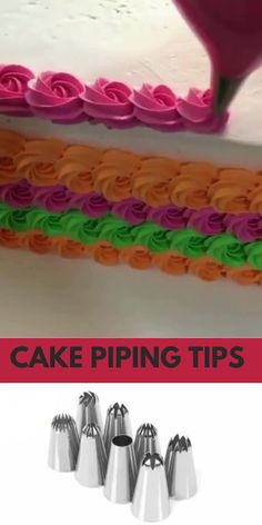 Cake Decorating Frosting, Cake Decorating Designs, Cool Cake Designs, Cake Decorating Techniques, Cake Nozzles, Cupcake Videos, Decorator Frosting, Cake Piping, Piping Techniques