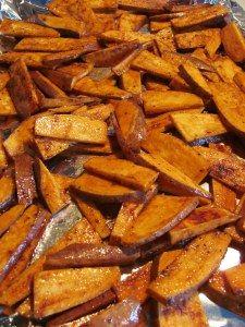 Spicy cinnamon sweet potato fries