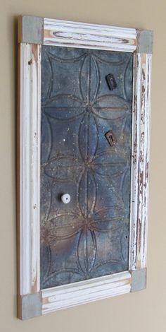 wood frame around metal tiles - Google Search