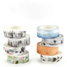 1.5 and 3 cm 0.8 fish and sea theme Box 10 Masking tape washi tape masking tape 0.5