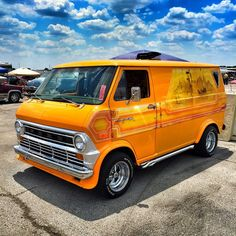 74 Custom old school vintage Ford van