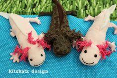 kitzkatz design: Näh dir deinen Axolotl