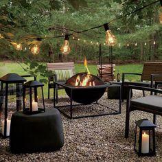 Cozy Backyard, Backyard Seating, Fire Pit Backyard, Garden Seating, Backyard Landscaping, Backyard Ideas, Landscaping Ideas, Patio Ideas, Firepit Ideas