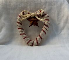 Primitive Country Heart And Star Wreath by Vikkisvintageworks,