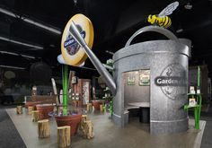 Natural Products Expo Garden Of Life Exhibit tradeshow booth design #expowest by 3D Exhibits