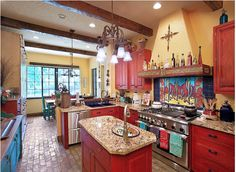 Kitchen backsplash made pretty with Talavera Tiles | Paint + Pattern