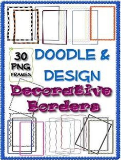 Cute frames for personal or commercial use. Doodle Png, Free Doodles, Wooden Signs With Sayings, Classroom Organization, Classroom Ideas, Cute Frames, Decorative Borders, Doodle Designs, Printable Art