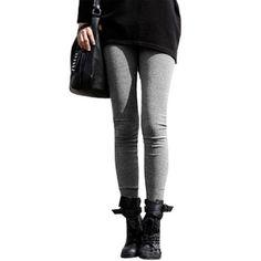 Allegra K Ladies Autumn Elastic Weight Skinny Cropped Leggings Light Grey XS Allegra K. $8.68