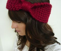 bow knit headband! O my geeeosh! I have to figure out how to do this!