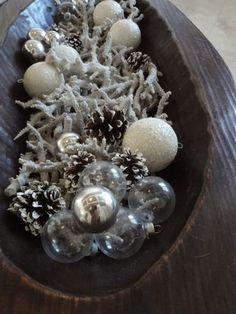 antique wooden dough bowl centerpiece