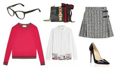When you are on the run just choose a sweater, add a skirt and wear it with heels. Add glasses for a chic look! @stylebop            #stylishdressing #officewear #outfits #sweater #glasses #heels #mondayoutfit #gucci #luisvuitton #alexandermcqueen