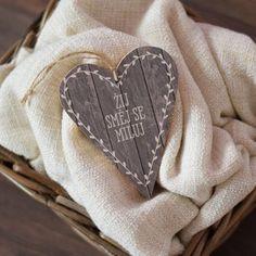 Dřevěné srdce - Žíj a směj se ...