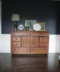 Color scheme... Inkwell by Sherwin Williams - probably too dark, but I like the look of this room