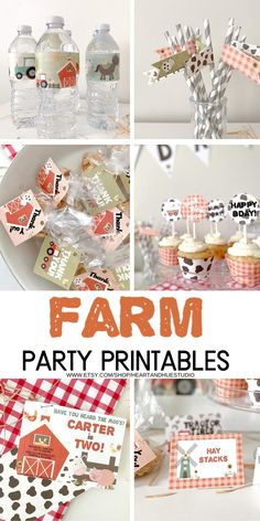 Planning a farm themed party but not sure where to begin?! These space party ideas and printables are perfect way to save time + money by editing and printing the templates yourself. These digital download party printables come as a complete bundle for a farm birthday party! Visit our shop for modern kids birthday invitations and party printables! #farmbirthdayparty #farmprintables #farmparty #farmdecorations #editablefarmpartydecor #farmbirthdayparty Farm Themed Party, Barnyard Party, 1st Boy Birthday, Boy Birthday Parties, Birthday Ideas, Farm Cupcake Toppers, Farm Party Decorations, Farm Kids, Birthday Template