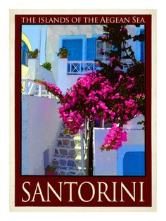 Santorini Greece 3 Giclee Print by Anna Siena at Art.com