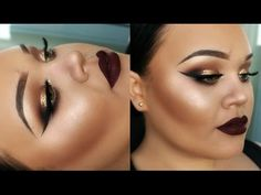 Gold Glitter Eyes   Full Face Drugstore Makeup Tutorial   New Years Eve   Makeupwithjah - YouTube