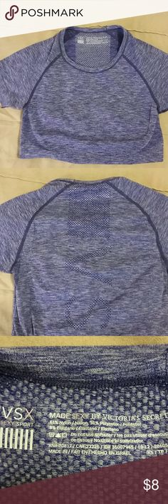 Victoria's Secret Sport Workout Top In great condition with no defects! VSX Sport top in stretchy fabric. Victoria's Secret Tops