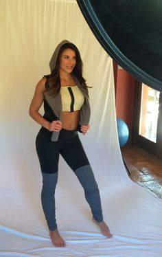 Photo shoot fitness meets fashion.  Mastectomy bra with style.