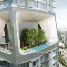 Dutch architects UNStudio have unveiled designs for a Singapore skyscraper with chunks missing from its facade.