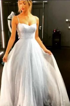 Cheap long dresses - Sparkly backless gown tulle floorlength ball gown cheap long evening gown with thin straps graduation gown – Cheap long dresses Cheap Long Dresses, Sparkly Prom Dresses, Cheap Gowns, Tulle Prom Dress, Maxi Dresses, Wedding Dresses, Dress Long, Prom Dresses On Sale, Tulle Lace