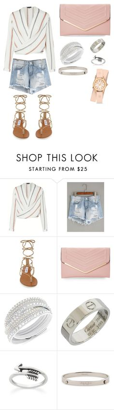 """Brunch babe"" by marispotorno ❤ liked on Polyvore featuring Steve Madden, Sasha, Swarovski, Cartier, Coach and Michele"