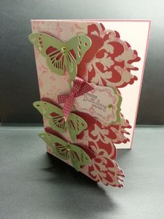 Playing with the new Cricut Explore and Anna Griffin's butterfly card design.