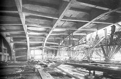 Rudolf Steiner's Second Goetheanum - Construction of the ceiling.