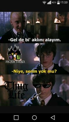 Yürü be Harry Harry Potter Comics, Harry Potter Anime, Harry Potter Jokes, Harry Potter Film, Harry Ptter, Good Sentences, Funny Times, Funny Video Memes, Funny Moments