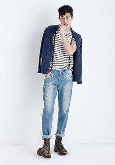 Nam Joo Hyuk - Поиск в Google Korean Fashion Men, Korea Fashion, Korean Men, Asian Men, Korean Actors, Mens Fashion, Trendy Fashion, Asian Male Model, Park Bo Gum