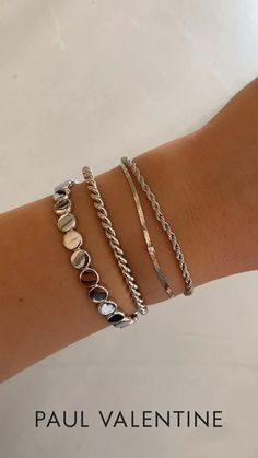 Silver Bracelets, Jewelry Bracelets, Jewelery, Silver Jewelry, Chain Bracelets, Bracelet Set, Foundation Contouring, Makeup Tutorial Foundation, Cute Jewelry