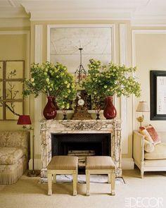 Living Room fireplace. Interior Design: Alessandra Branca.