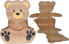 Caixinha de Ursinho, Abraço de Urso, Teddy Box, Bag, Sacolinha, pelúcia, 3D, Modelo 3D, Projeto 3D, 3D, 3D Model, 3D Project, Silhouette