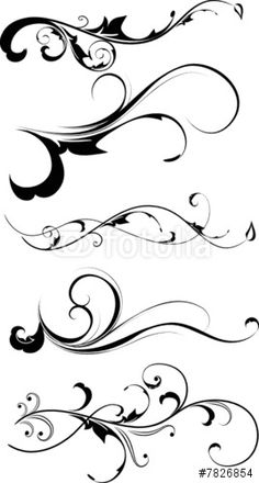 """Download the royalty-free vector """"Floral silhouette"""" designed by Lana at the lowest price on Fotolia.com. Browse our cheap image bank online to find the perfect stock vector for your marketing projects!"""