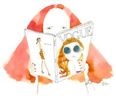 Sujean Rim illustration of my idol Grace Coddington Grace Coddington, Vogue Uk, Fabric Photography, Fashion Art, Fashion Drawings, Fashion Illustrations, Fashion Design, Watercolor Illustration, New Art
