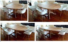 Eiken tafel uitschuifbaar 4 keer 1795 maakt meubels op maat