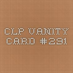 Chuck Lorre Productions - Vanity Cards