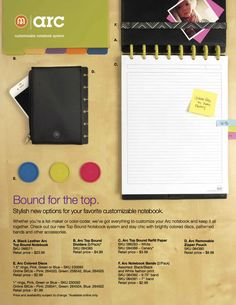 catalogue List Maker, Arc Notebook, Catalog, Design, Brochures