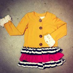 SweetHoney Clothing - SweetHoney Mustard Ruffle Cardigan , $48.00 (http://www.shclothing.com/sweethoney-mustard-ruffle-cardigan/)