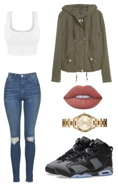 """Not telling u to wait"" by anahi215 on Polyvore featuring Michael Kors, NIKE, Topshop, H&M and Lime Crime"