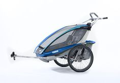 """""""Chariot CX 2"""" by Thule with bike attachments."""