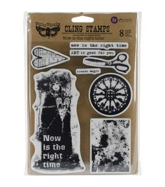 Prima Marketing Finnabair Now Is The Right Time Cling Stamps