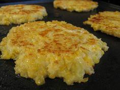 Cauliflower cheese pancakes